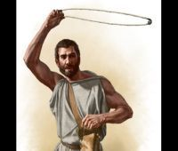 Fun Fact: When the Roman legions were fighting the rugged celts of Scotland they used slingers who using a leather slingshot would hurl lead shot which had the stopping power of a .44 Magnum pistol...