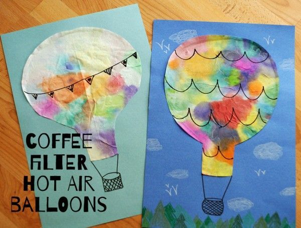 Coffee filter hot air balloons