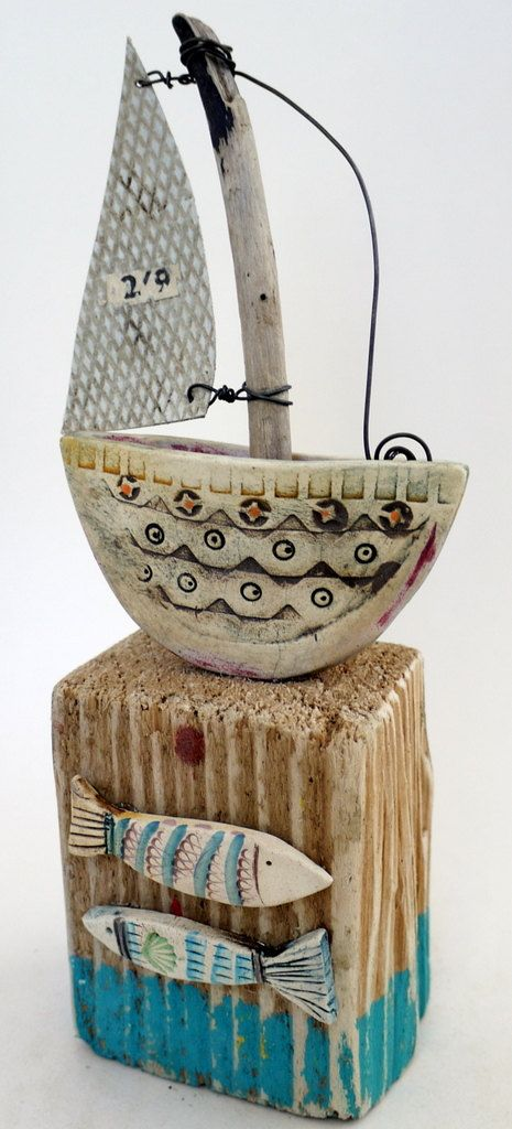 Little Sailing Boat by ShirleyVauvelle on Etsy, £55.00