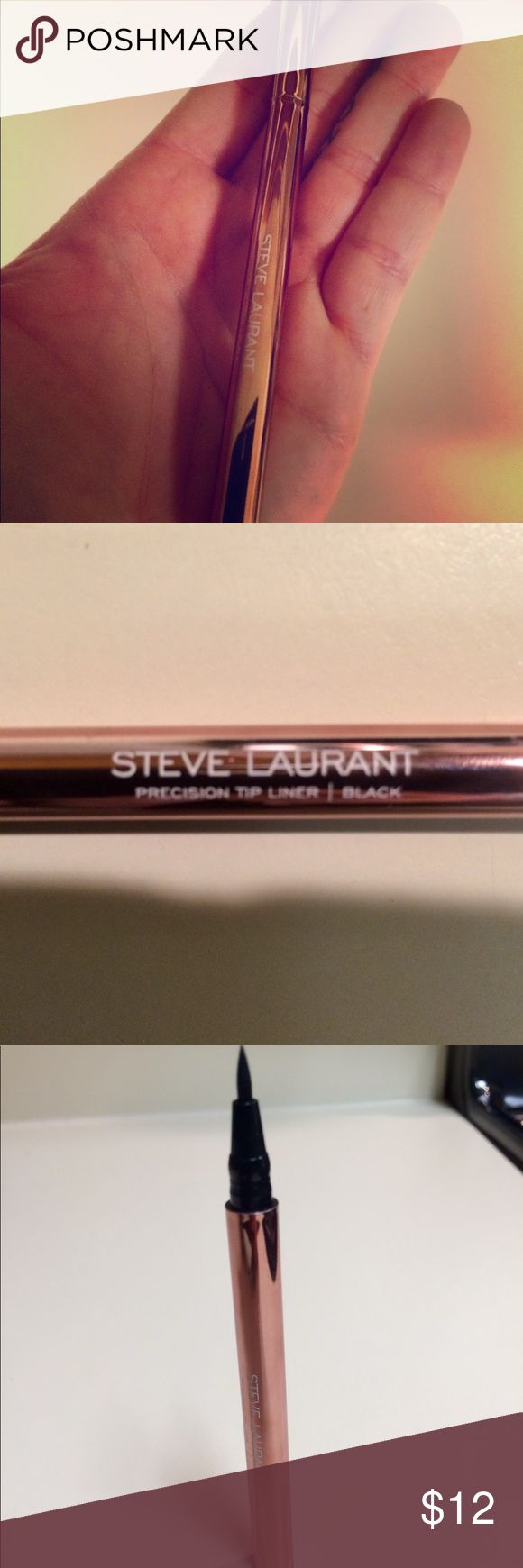 🆕Precision tip black liquid eyeliner Brand new got in my monthly beauty box. Retail is over 10$. Full size. Steve Laurant Makeup Eyeliner