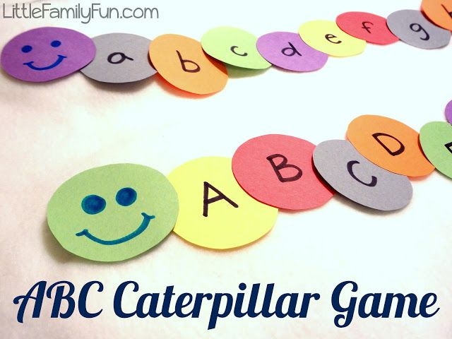 Review ABC's with preschoolers with this fun alphabet caterpillar.