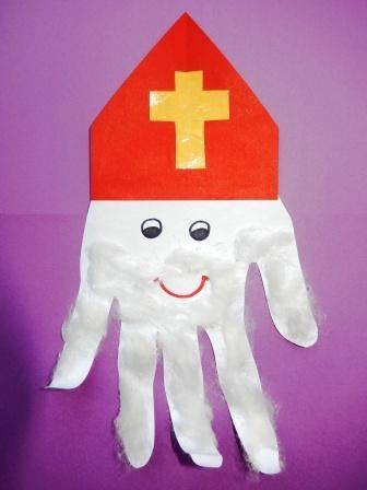 Knutselen: Sinterklaas van hand
