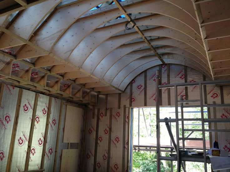 Ribs for barrel ceiling go in at 19b. This should be a pretty impressive master bedroom when finished!