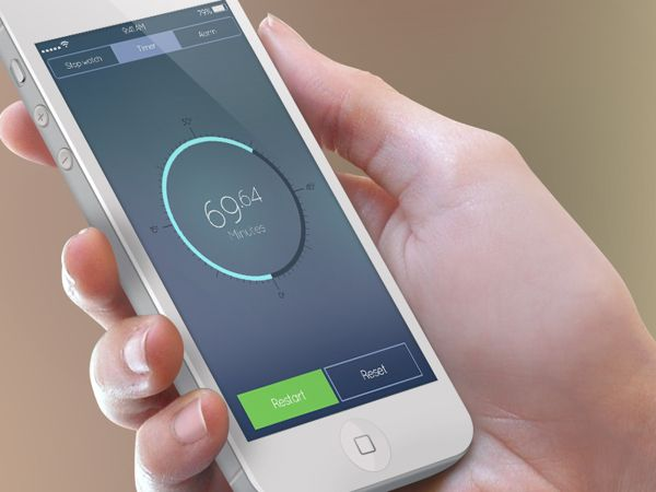 concept for iOS7 stop watch on iphone.  #ios7 #iphone #app #nikhil