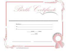 Birth Certificate Template 04