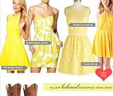 Mismatched Yellow Bridesmaid Dress Ideas