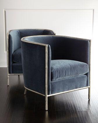 Luella+Blue+Velvet+Chair+by+Bernhardt+at+Neiman+Marcus.