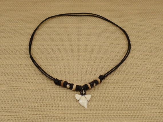 Handmade Real Shark Tooth Necklace  Tiger Shark by TheArtisansHall