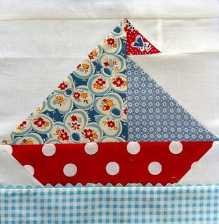 Sailboat block.  onlinequiltingcla...