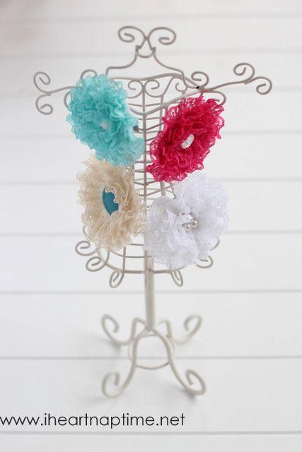 Ruffled lace flower tutorial