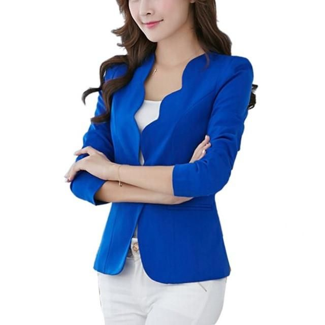 fad3aebce02f Pink Casual Business Blazer Suit Women One Button Jacket Coat Outwear Blazer  Candy Color 2017 Faddish women blazers and jackets