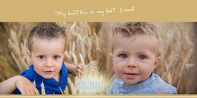 Brothers are friends for life ♡ © 2014 PhotoDray, Andrea Labeur