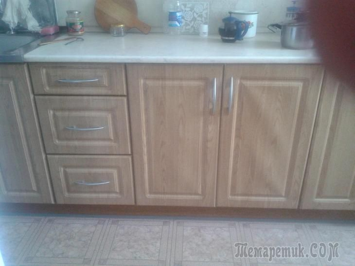 Обновленная кухня 7.5 кв.м в панельном доме