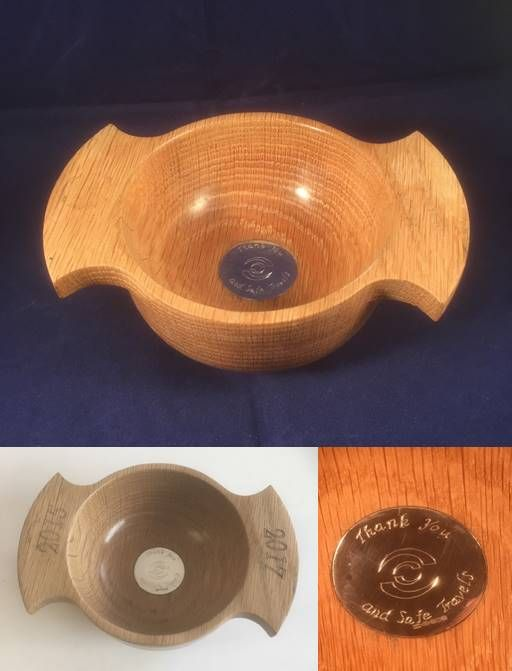 This quaich was done as a farewell present but they are equally useful for weddings, christenings and birthdays  If you're stuck for a great present, have a think about something unique and bespoke like this.  Whatever I make for you will never be made again…  £150.00 plus p&p, 6 - 8 weeks to deliver