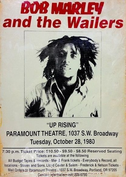 Bob Marley And The Wailers -  Voice Of The Sufferers  - Memorabilia Tour Posters (canceled concert)