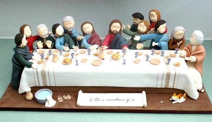 The Last Supper. Super awesome cake from The Cupcake Galery.