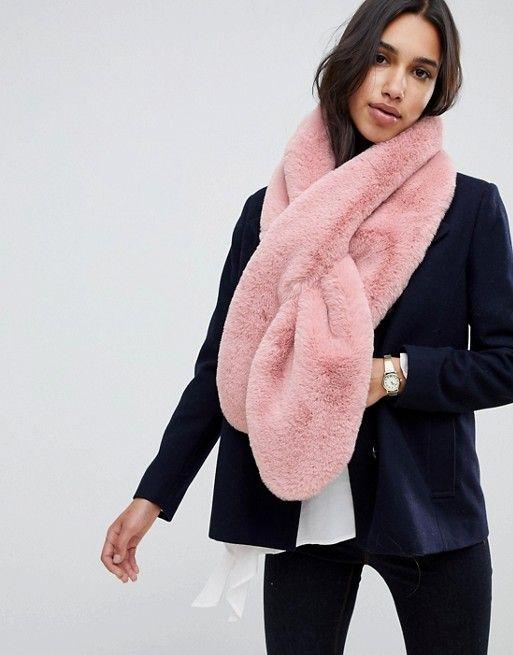 90b688cf5c86 DESIGN oversized faux fur scarf | Fashion wish list & ideas | Fur fashion,  Faux fur stole, Asos