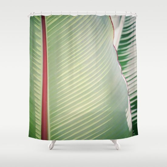 The Dreamery Sage + Red shower curtain