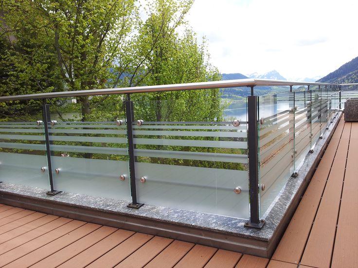 Balustrade balcon en verre