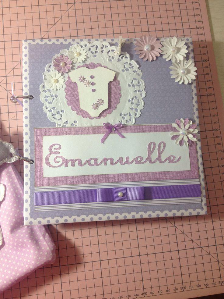Caderno de assinaturas para Maternidade- Emanuelle By Lígia Sousa