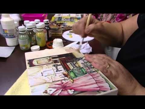 Mulher.com - 12/02/2016 - Caixa de costura mdf decorada - Rose Rodrigues PT1 - YouTube