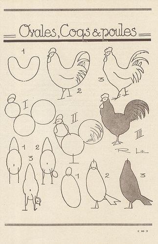 Les 40 meilleures images du tableau dessins coq et poule sur pinterest coqs dessin pour - Coq a dessiner ...