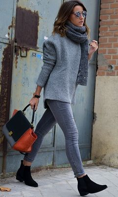 SF: like this overall look with the grey jeans