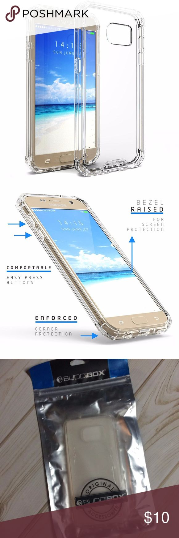 Galaxy S7 Case, BUDDIBOX for Samsung Galaxy S7 Galaxy S7 Case, BUDDIBOX for Samsung Galaxy S7 Case [ICE Series] Scratch Resistant TPU Drop Proof Protective Bumper Case for Samsung Galaxy S7 - Total Clear  box 3 buddibox Accessories Phone Cases