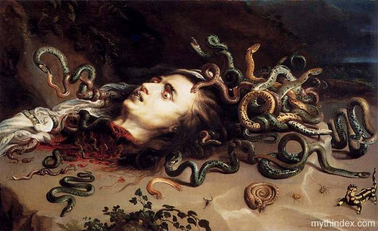 Head of Medusa, by Peter Paul Rubens (1577-1640), Flemish Baroque ...
