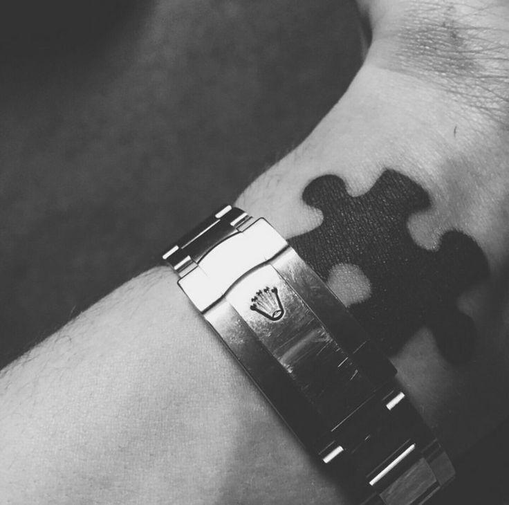 Puzzle piece tattoo #tattoos