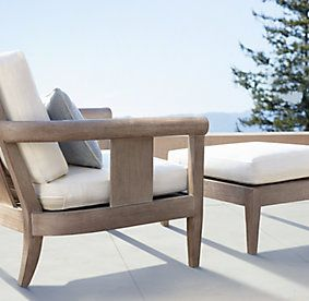 17 best images about san rafael eichler outdoor on for Restoration hardware teak outdoor furniture