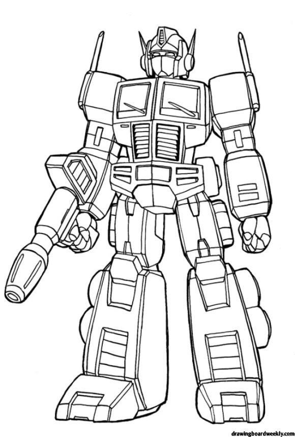 Optimus Prime Coloring Page Transformers Coloring Pages Cartoon Coloring Pages Coloring Pages For Kids