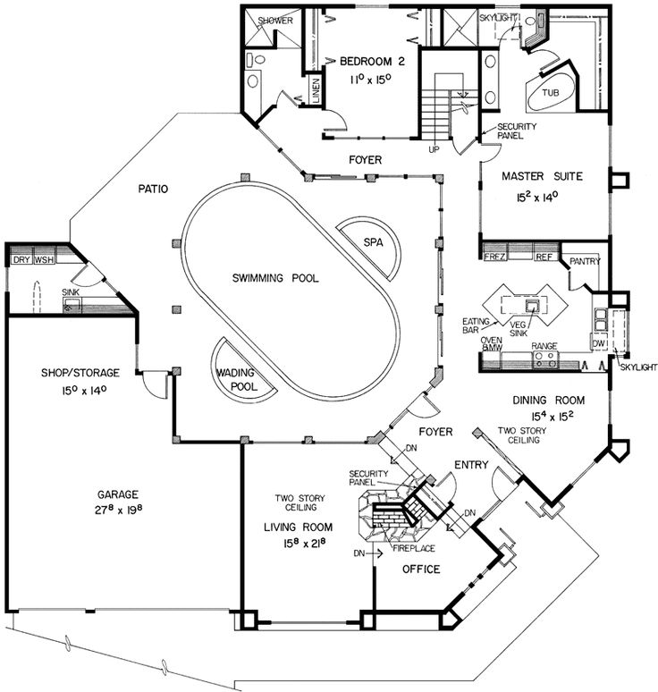 spectacular u shaped home designs. u shaped house plans courtyard pool  woodguides 14 best House Plans images on Pinterest Dream home