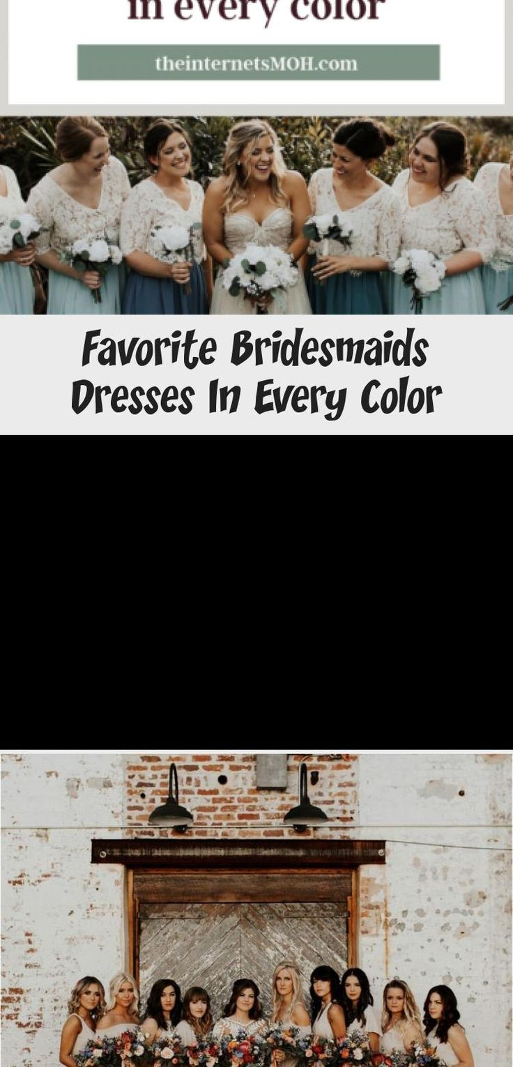 Bridal Party || Bridesmaids || Spring Wedding #BridesmaidDressesColors #BridesmaidDresses2019 #BridesmaidDressesSummer #BridesmaidDressesBlue #DifferentBridesmaidDresses