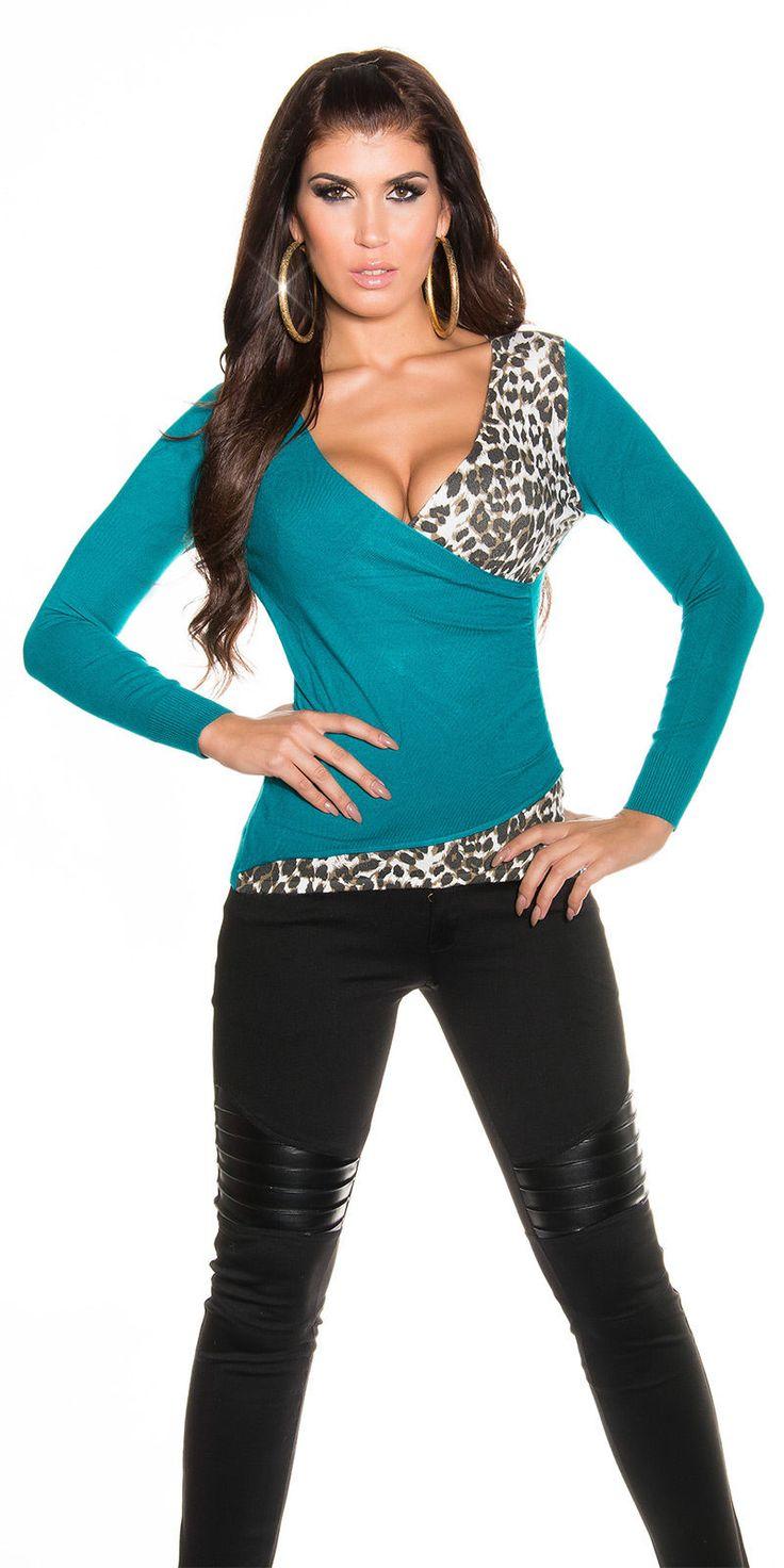 New Sexy Women Pullover Jumper Leo Look Ladies Top Shirt Size 6 8 10 12 UK S M L | eBay