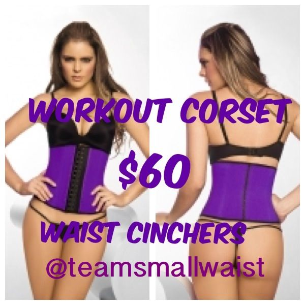 Purple Colombian Workout Corset $60 www.teamsmallwaist.com