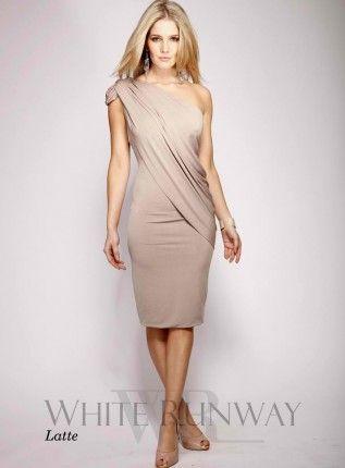 Grecian Cocktail One shoulder dress