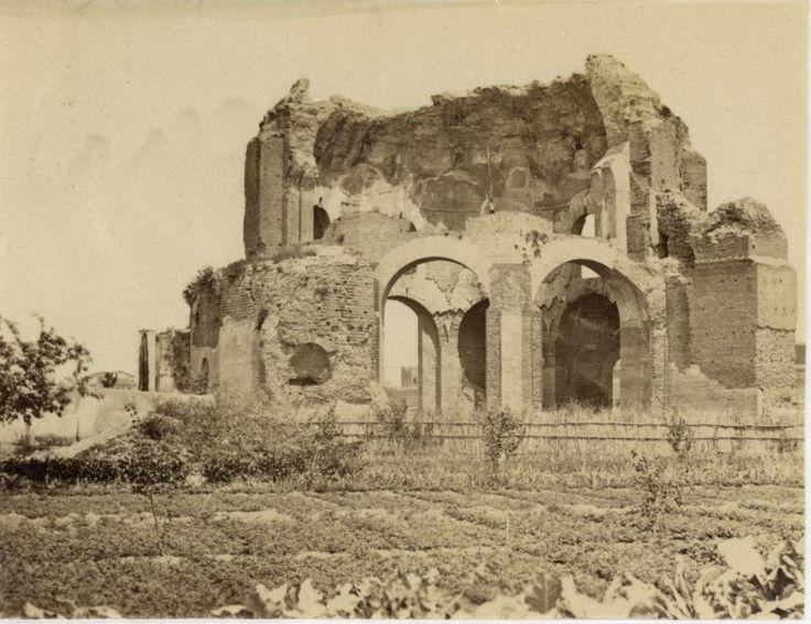 Italie, Rome, Temple de Minerve Vintage Albumen Print, Italie Tirage albuminé 9x12 Circa 1875