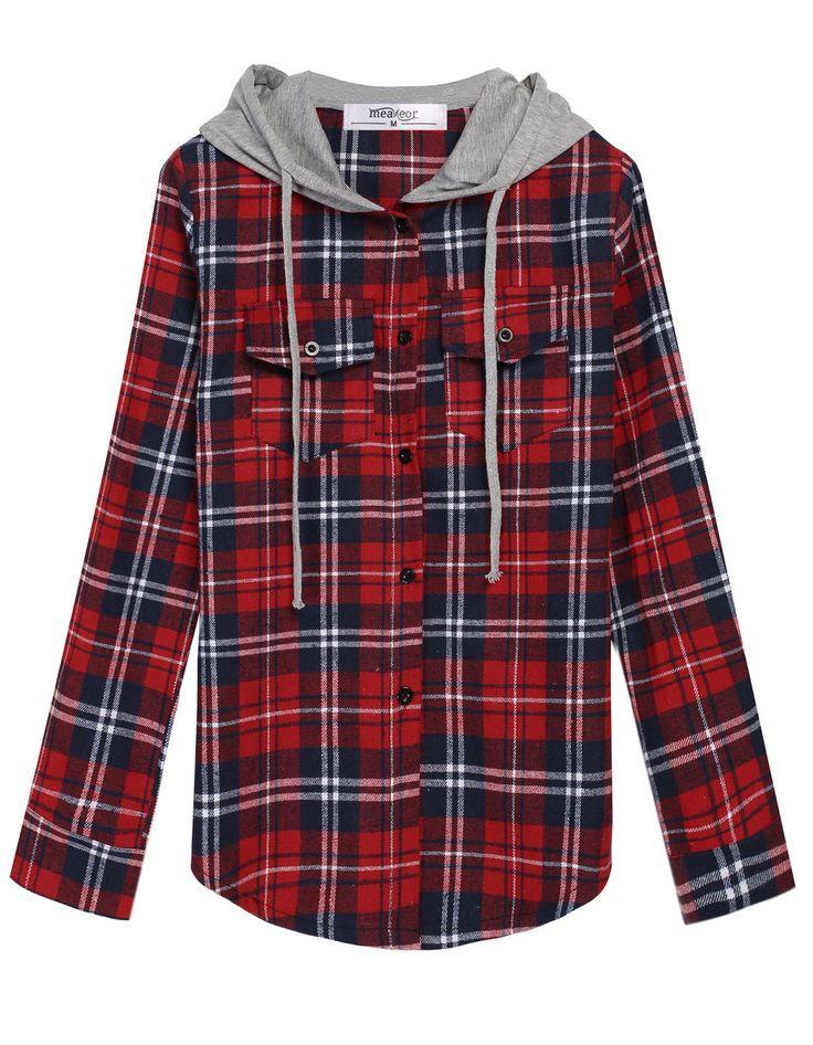Flannel Hooded Sweatshirt