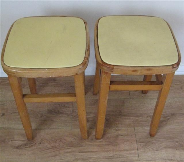 Kitchen stools, every family had one! Why did they all seem to be yellow?