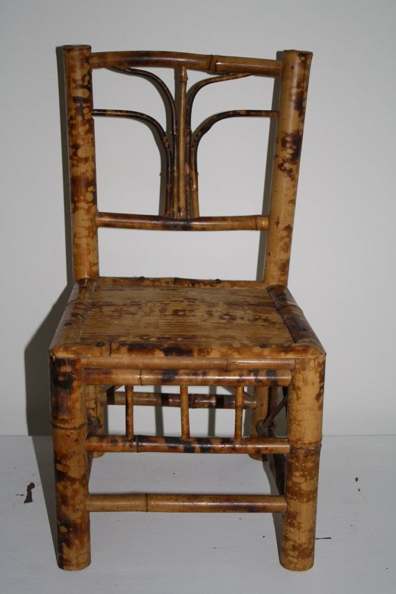 Antique Bamboo Chair Vintage Bamboo Child S Chair By