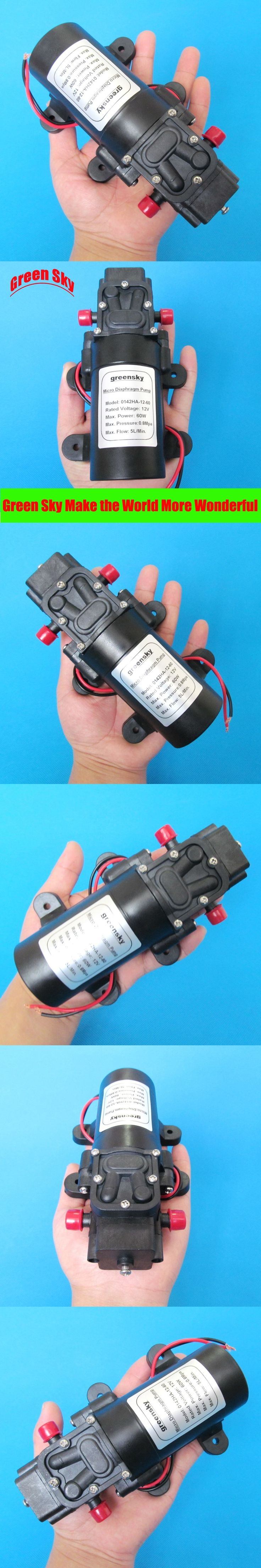 5L/Min 12V DC 60W return valve type high pressure mini water diaphragm pump