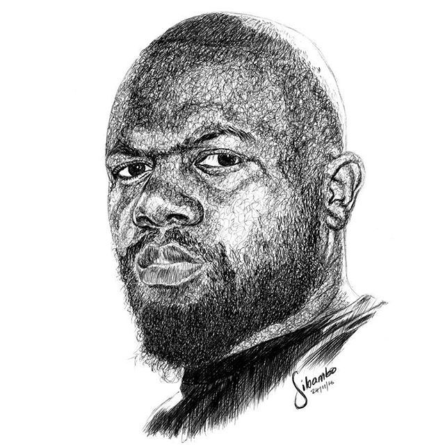 Congratulations to the 1st #sibamboportraitsme winner Gabriel Kwitonda, in black pen. I promised on my birthday to draw the first 3 people to use the hashtag...and I went beyond and used a different technique...Next 2 coming soon. Enjoy!  #sibamboportraits  #masterpiece  #penart  #ballpointpen   #fanart  #drawing