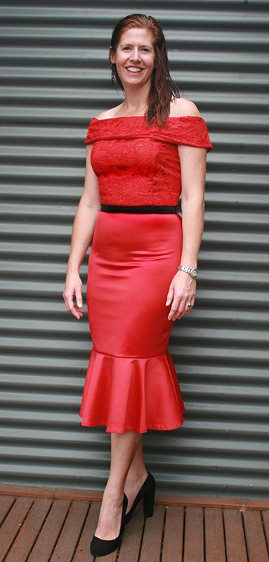 AUD $252.50 Another happy Sui Generis Style client in their customised dress.  #weddings #bridesmaid #cocktail #red #lace #mermaid #specialoccasion
