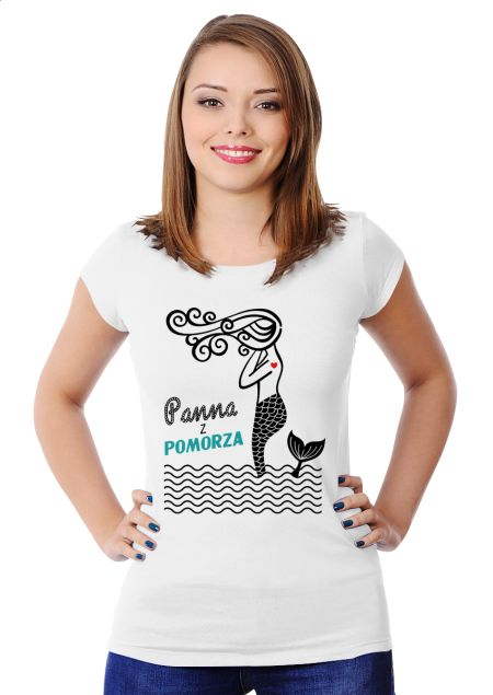 Panna z Pomorza Women's Slim Fit T-shirt Design by Ejmadziu | Teequilla…
