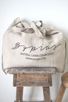 BYPIAS Linen Shopper, LIGHT NATURAL