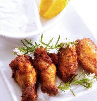 Жареные куриные крылышки с медом и соевым соусом