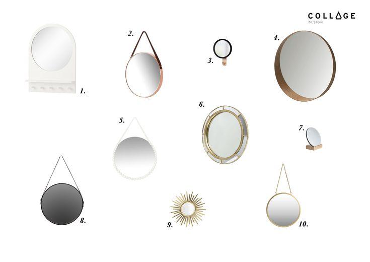 Okrągłe Lustro zestawienie www.collagedesign.pl