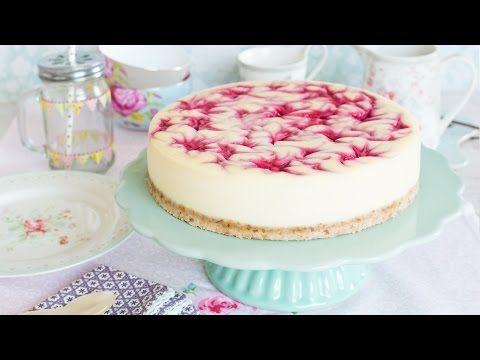 Vídeo-receta: Tarta de queso y remolinos de frambuesa