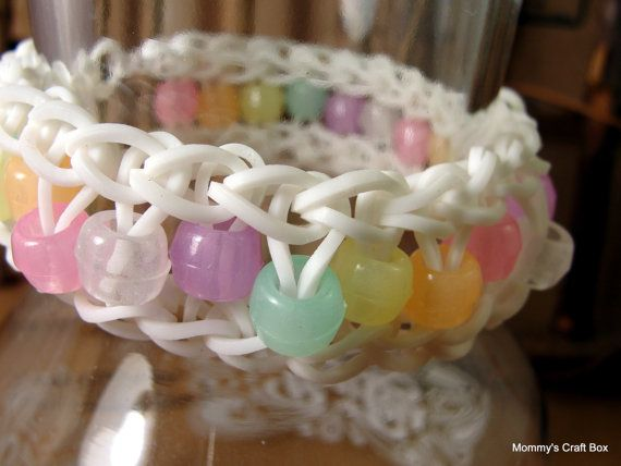 Rubber Band Bracelet Friendship Bracelet Glow in by MommysCraftBox, $3.00